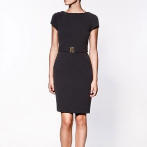 Zara Basic black sheath wiggle dress lbd